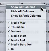 Show all columns and you'll be surprised at what's available, or going to become available.