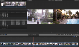 Final Cut Pro X's dual viewers