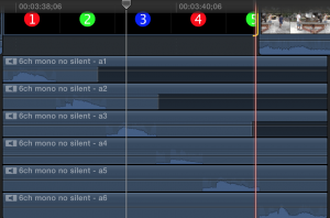 Final Cut Pro X's multichannel audio