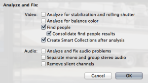 The Analysis settings I used.